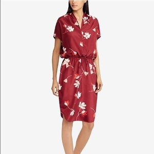 🌸New Ralph Lauren Floral-Print Drawstring Dress